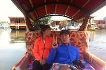 Shikara tour in lake