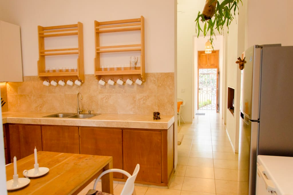 """THE KITCHEN. """"What a beautiful experience walking into a beautiful home and being welcomed by Mojitos."""" Victor (Berkeley, California)"""