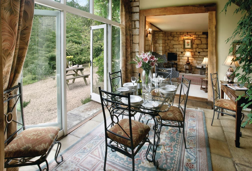 Ground floor: Dining room which opens onto both kitchen and sitting room