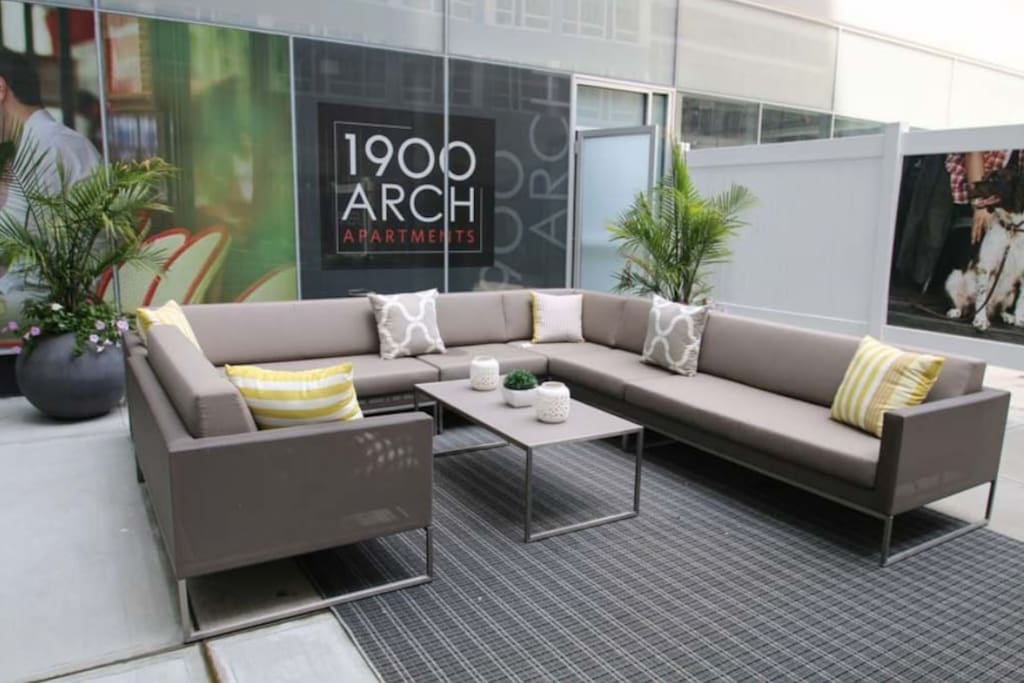 Outdoor Courtyard Seating on First Floor