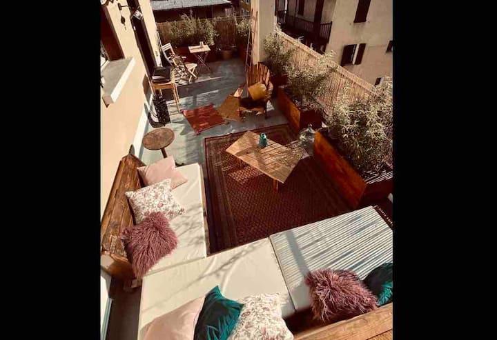Appartement spacieux avec grande terrasse 60 m2