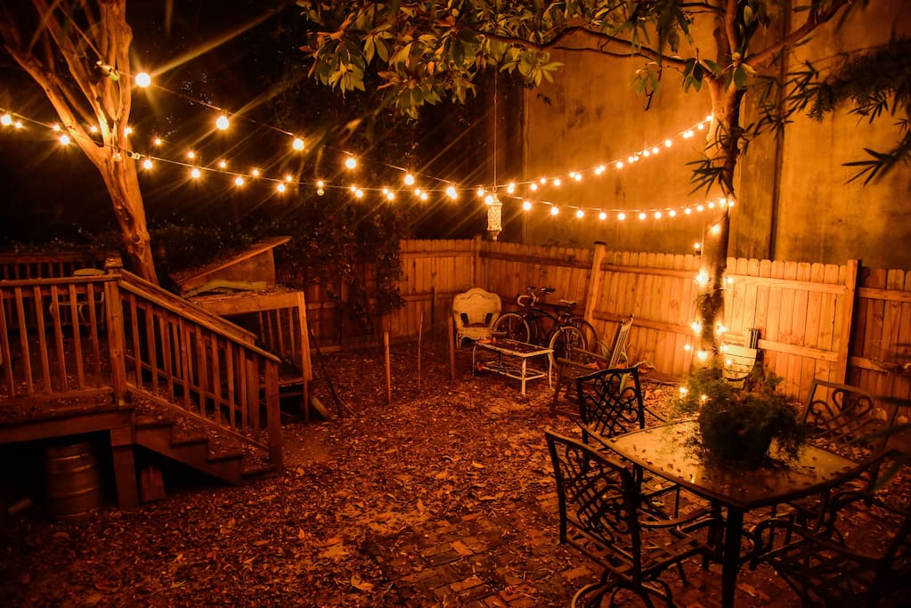 Our backyard, and your gateway to our private back entrance. Photo by chel.photography@instagram.com.