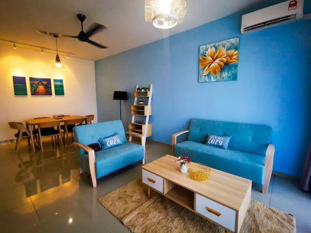 [Promo] 5 min to airport 3 bed 6 pax pool & gym