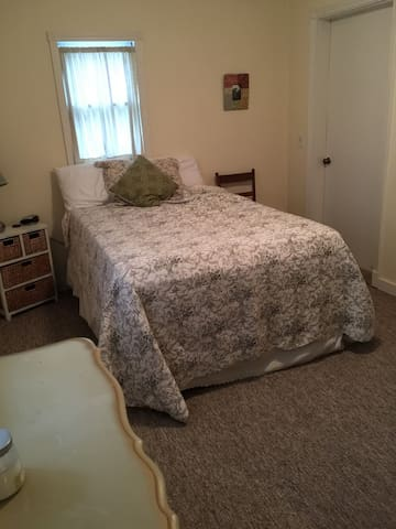 Comfy queen bedroom, dogs provided - Iowa City - Casa