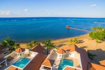 aerial view of our private rooftop pool  (left unit)