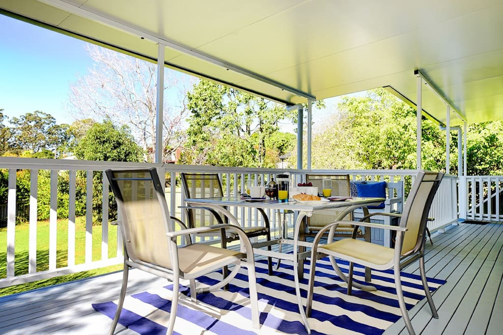 Private and expansive patio deck