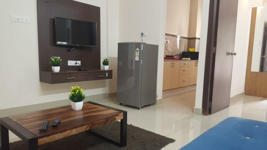 New Flat 1bhk for Couple Friendly - kasavanahalli