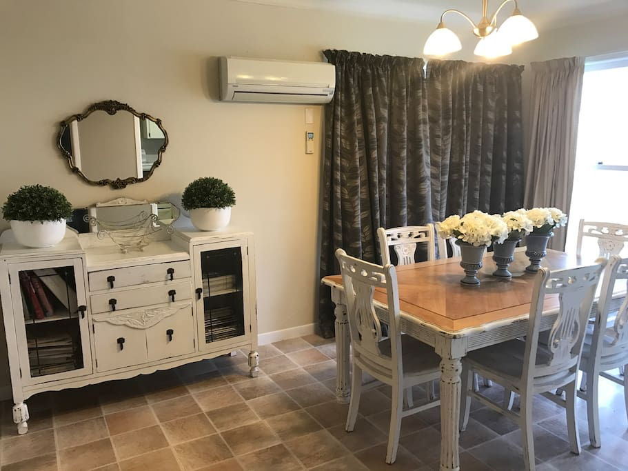 Dining Room with cosy heat pump