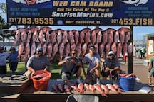 Fishing Charter at Port Canveral. What a catch, red snapper!