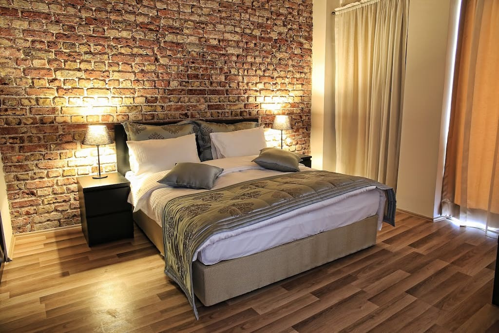 Bedroom with historical atmosphere and french balcony...