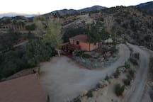 Drone View of the Cabin - Back Entrance View