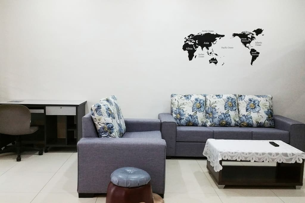 Work Place and Sofa at living room