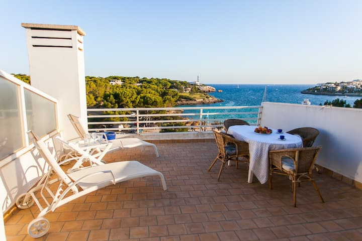 Amazing penthouse in Portocolom in the beach
