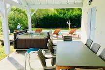 Villa LANDAISE JACUZZI&PISCINE chauffée près plage