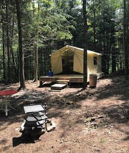 Rustic Makwa Den Kayak Campground:  Safari Tent