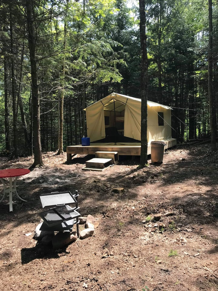 Rustic Makwa Den Kayak Campground:  Safari Tent