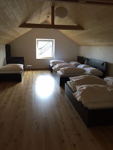 Chambres d'hôtes - L'Oiselière, (Roche-d'Or), Dormitory - Les Pinsons (1 to 6 people)