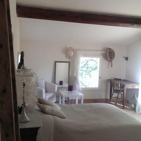 Chambre dans maison de charme au pied du Luberon - Cucuron - Casa
