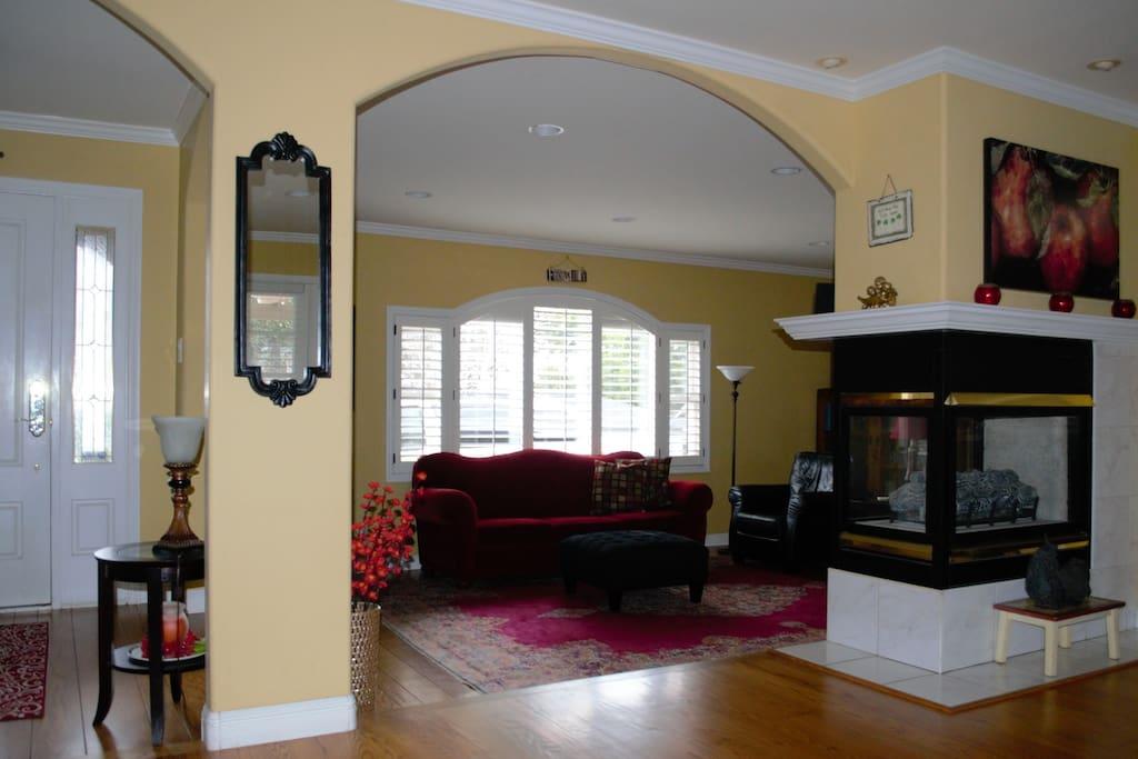 Open, spacious floor plan.
