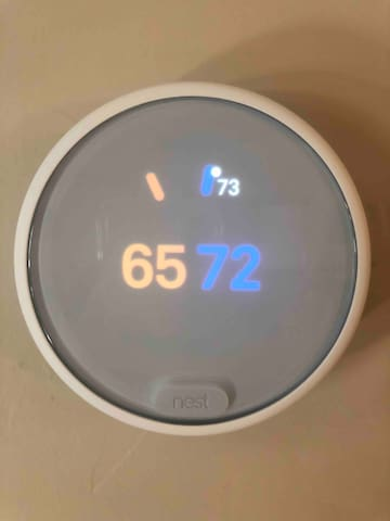 New furnace and A/C with Nest smart thermostat to keep you comfortable