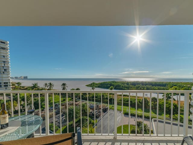 NEW OWNERS! End Unit w/ Top of Line Finishes / Wide Gulf Views!