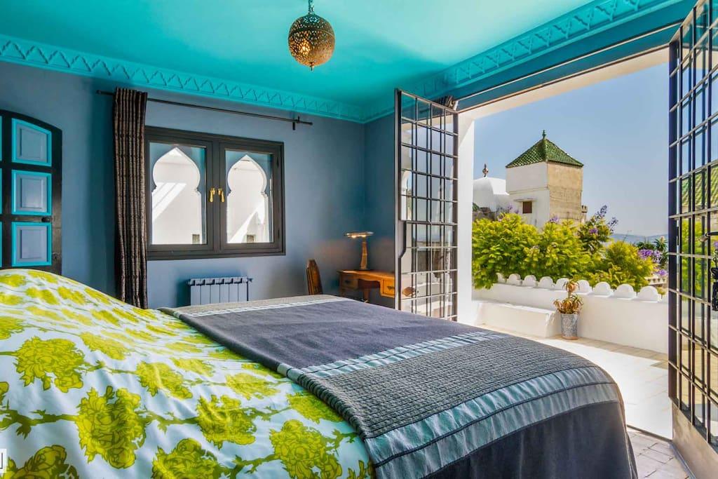 La chambre Berbère et sa terrasse privative