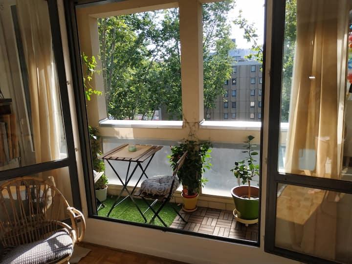 Charmant T1, 30m², balcon, proche partdieu