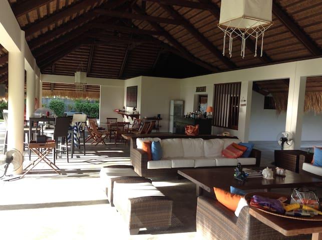 Living room, bar, dinning room