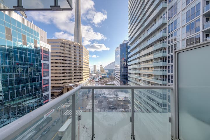 1BR Furnished Condo w/Balcony across from CN Tower