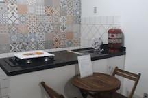 Detalhes: Mesa e Bancada da cozinha