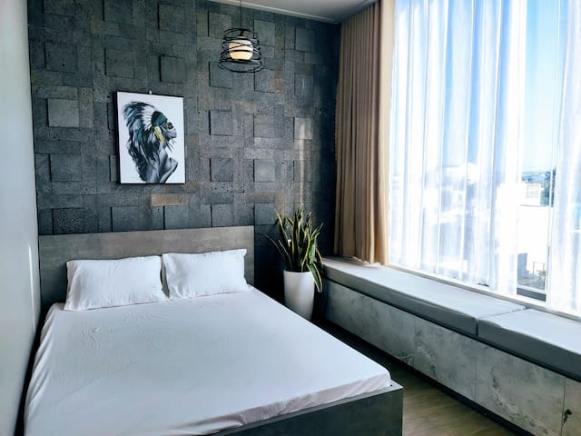 (Centre City) Coral Homestay Double room Skyview