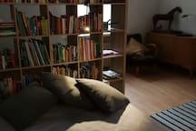 The living room / bedroom