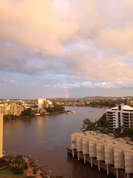 Balcony River View: Rainbow Viewing