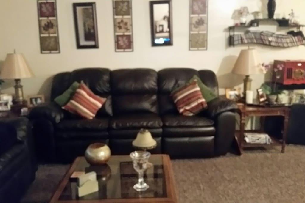 Warm, cozy, comfortable living room