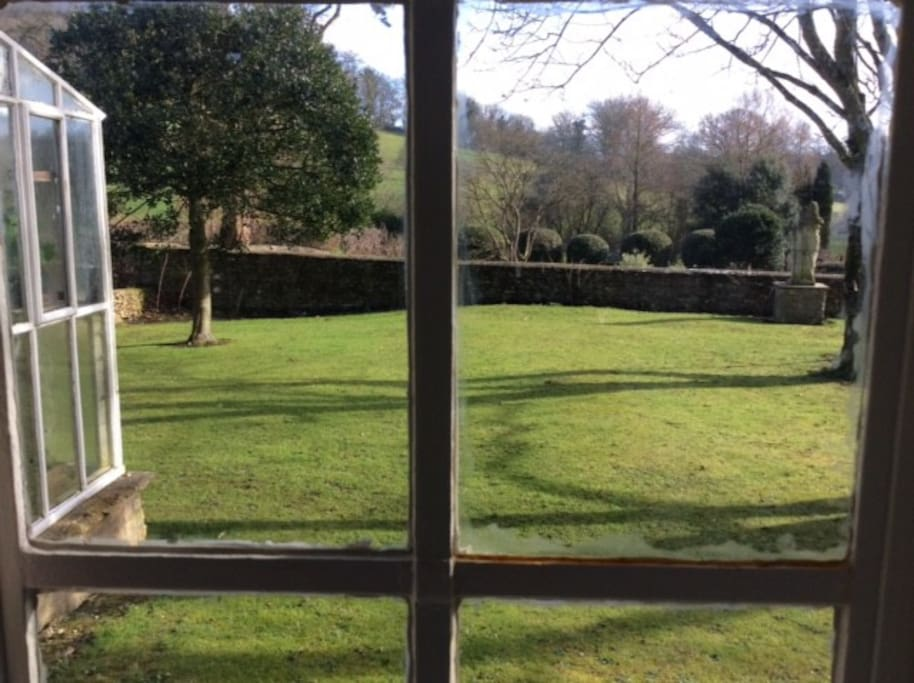 The view from the window onto the Garden