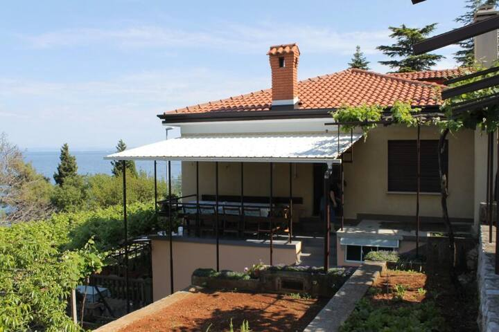 Room with balcony and sea view Medveja (Opatija) (S-7775-c)