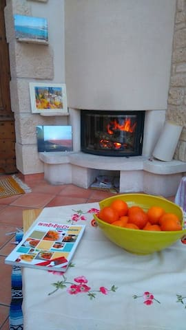 Typical house of southern France with breakfast - Carmaux