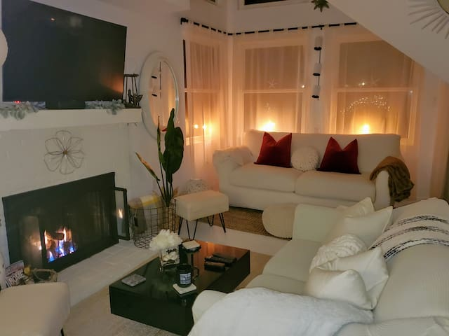 Cozy and inviting on the coolest of evenings...
