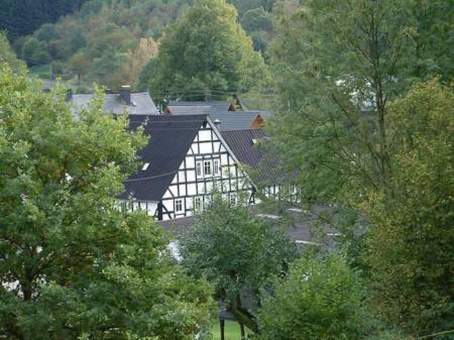 """""""Aale Huss"""" von hinten vor der Dachsanierung"""