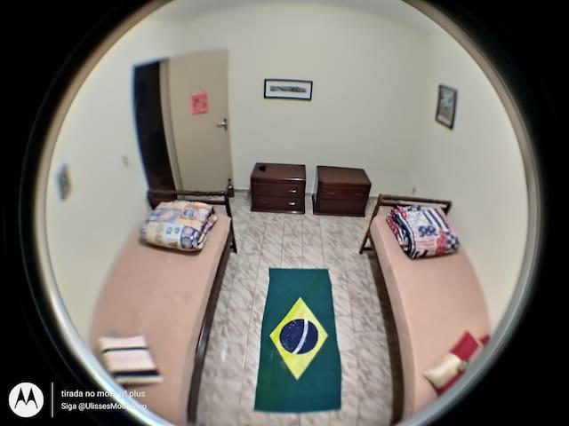A Casa do Mochileiro . Quarto Duplo