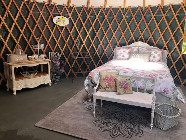 Beautiful meadow yurt in the heart of Cowichan