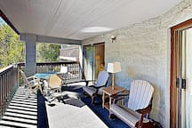 Sip your morning coffee from the comfort of the private balcony.