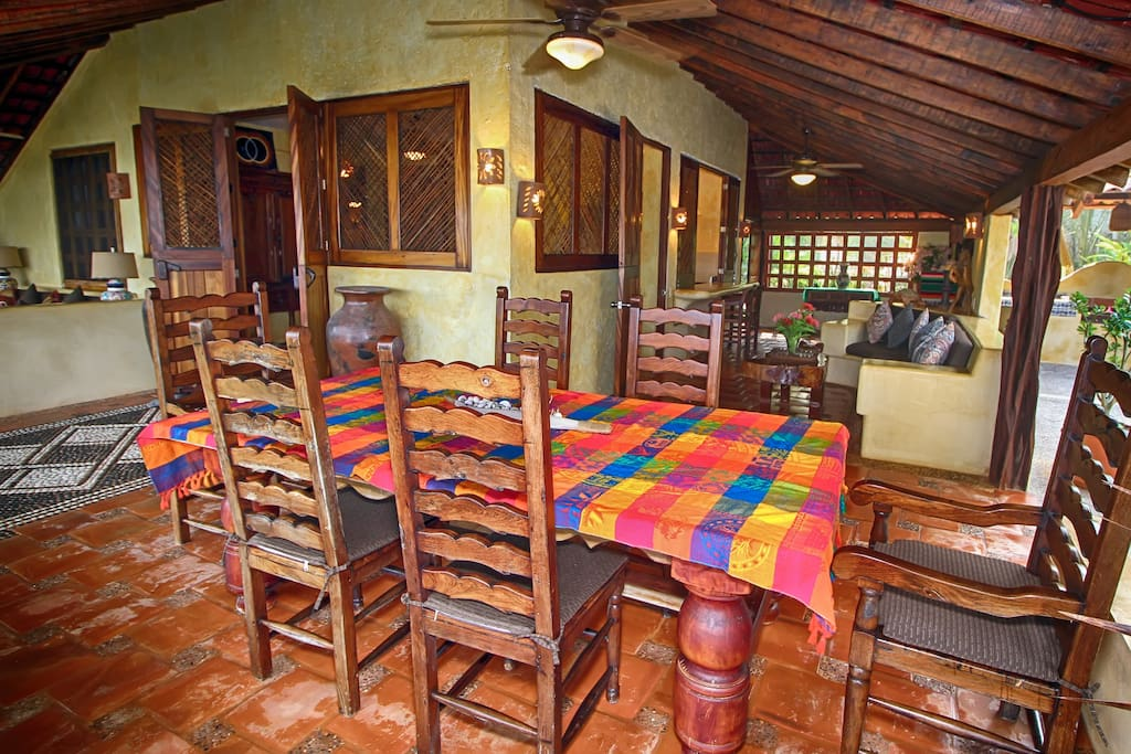 Our spacious ocean view dining area