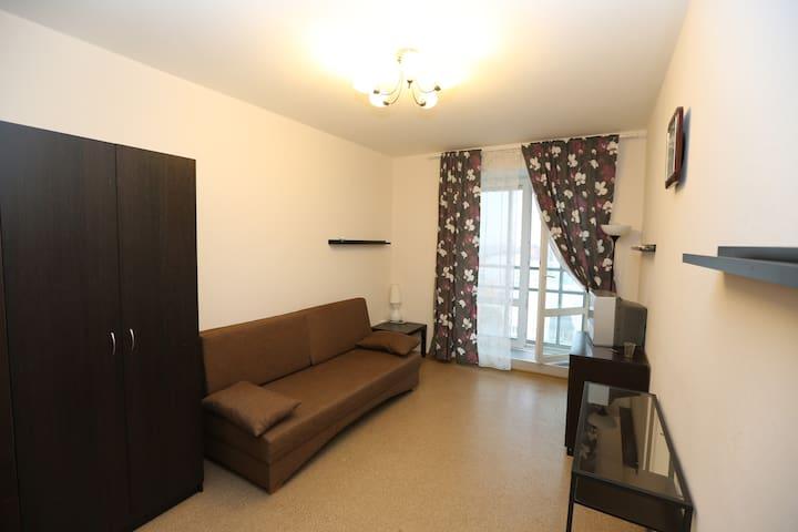 Компактная и удобная квартира рядом с парком - Kudrovo - Leilighet
