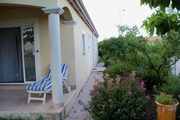 villa vue vignoble réputé