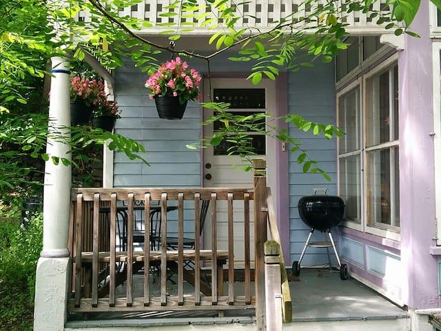 Private entrance and porch