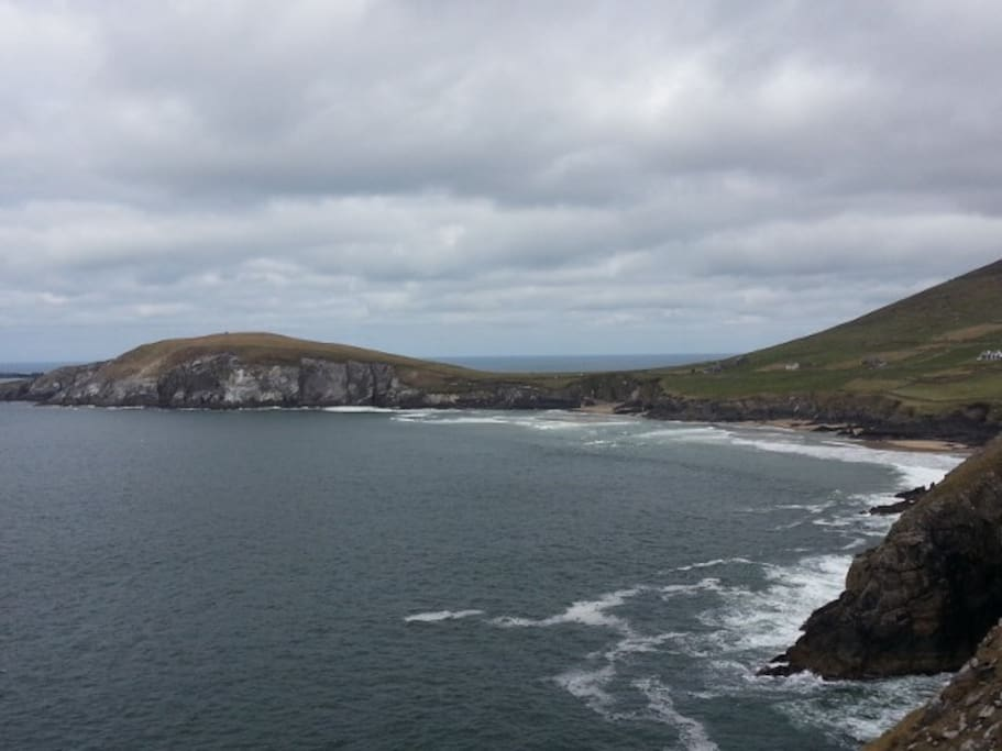 View of the beach from Slea head