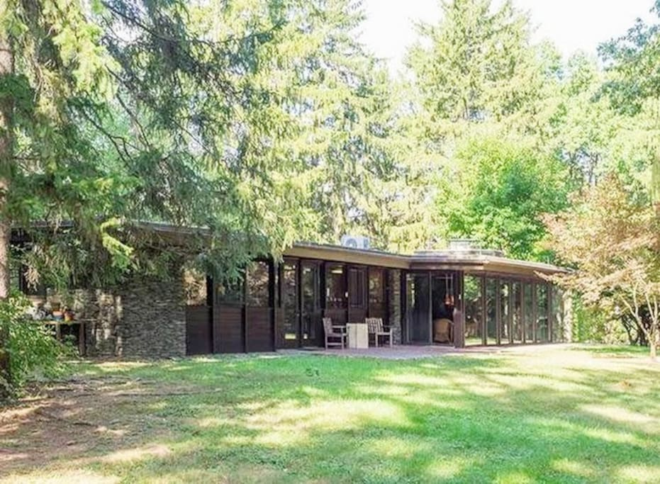 Over 9 acres. Completely private and serene setting.