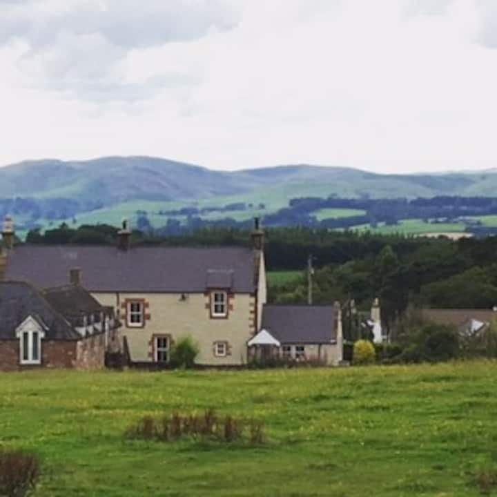 Semi-detached 4 bed farmhouse with stunning views