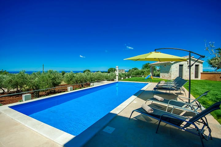 Villa Manuela with swimming pool - Kaštelir - บ้าน